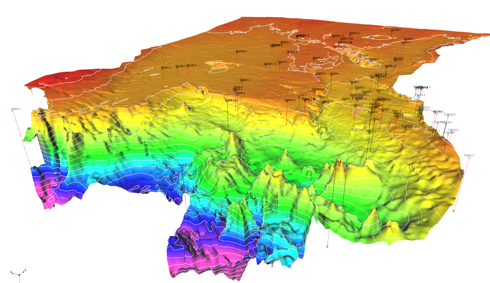 3D structure of the KT Unconformity